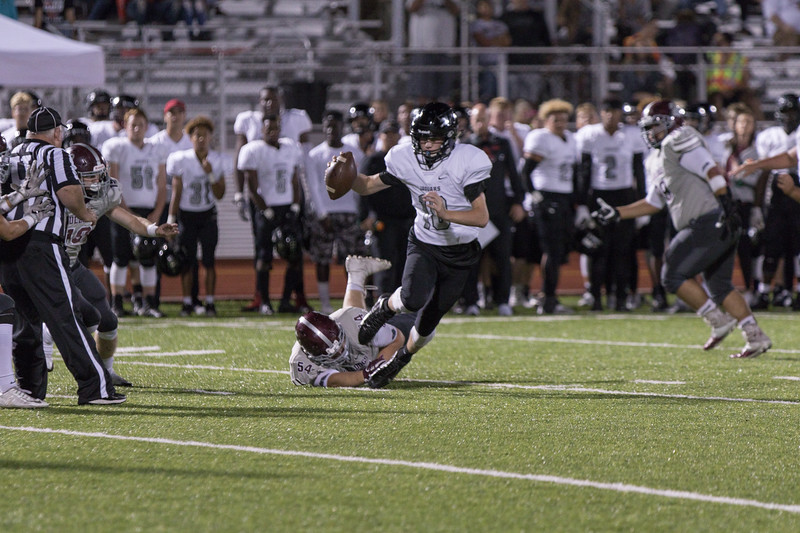 Edmond Memorial High School lost 55-28 to Westmoore Hogh School at game held September 29th at Sante Fe High School in Edmond, OK.