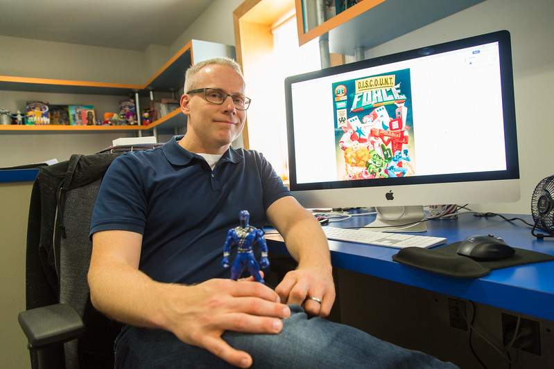 Brian Winkler, owner of Robot House Creative, authors a soon to be released comic book called Dicount Force.
