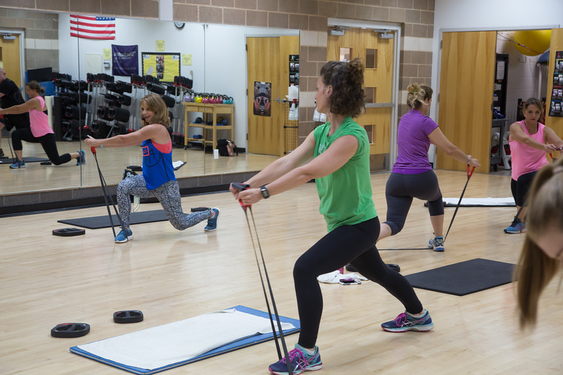 Amanda Storck teaches a new class called CXWORX at the downtown YMCA in Oklahoma City.