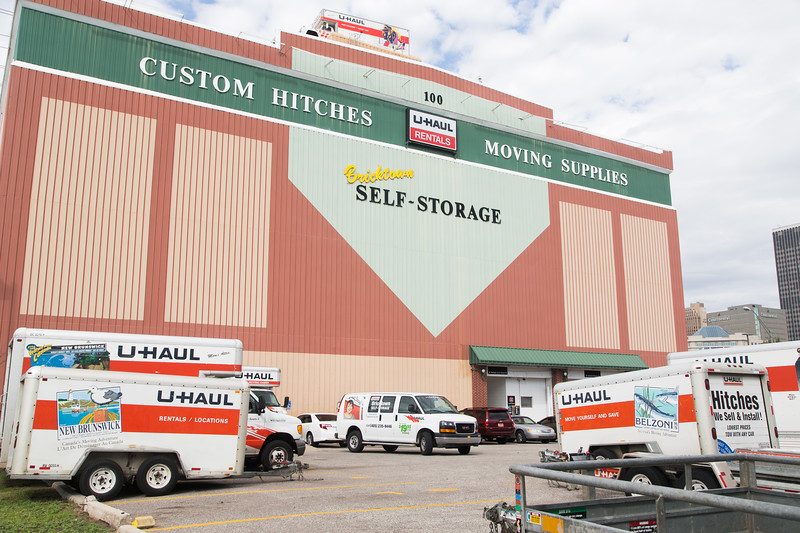 U-haul Rentals and Bricktown Self Storage located at 100 SE 2nd St in Oklahoma City.