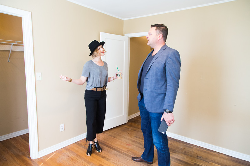 Realtor Simon Shingleton shows a home at 2513 NW 34th St in Oklahoma City to potential buyer Kathleen Shannon.