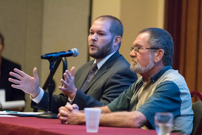 Jason Vogal, with the Oklahoma Water Survey, moderated a panel covering rural water issues at OU Water Center's annual conferance held in Norman, OK.