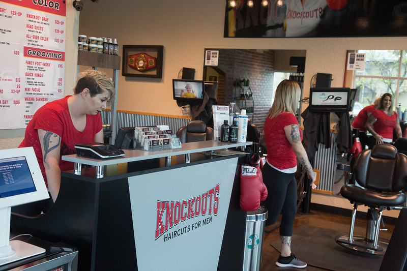 The owners of Knockouts Haircuts for Men in Oklahoma City are seeking a liscense to sell beer at their two locations.