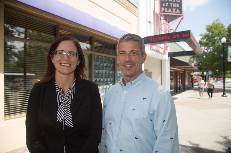 Julia Kirt, Executive Director of Oklahoman's for the Arts, and Michael Baron, Producing Artistic Director for Lyric Theater, at the Lyric Theater lcated at 1727 NW 16th St. in Oklahoma City.