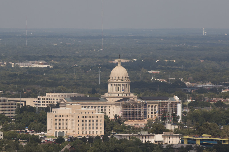The Oklahoma State Capitol located at 2300 N Lincoln Blvd in Oklahoma City.
