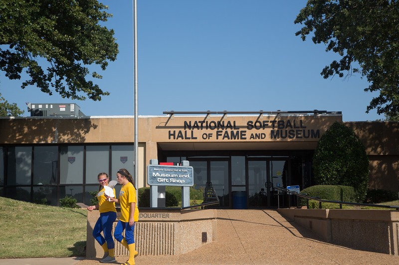 The USA Softball Hall of Fame and Museum located at 2801 NE 50th St. in Oklahoma City, OK.