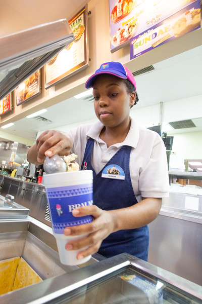 Soni Davis started working for Braum's at 3000 NE 63rd Street in Oklahoma City when she was sixteen years.