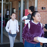 Students at Hillcrest Elementry in Oklahoma City recieved box lunches from Feed the Children to replace the school lunch they will miss during the teacher strike on April 2nd.