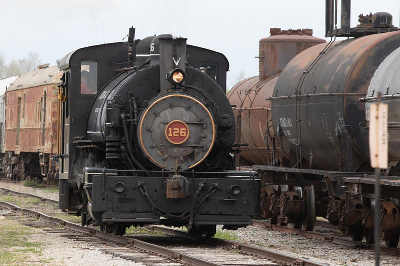 "The Oklahoma Railway Museum in Oklahoma City offers ""At The Throttle"" giving participants the chance to drive a steam powered 1938 060 Tank Engine."