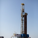 A drilling rig operated by Cimarex Energy Co. located west of Kingfisher, OK.