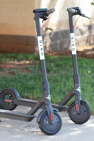 Bird Scooters are being left around downtown Oklahoma City and are available to rent via the companies website.