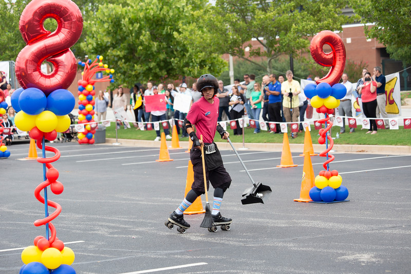 Devin Berry from Sedalia, MO; competes in the 2018 SONIC Skate-Off competition at Sonic Headquarters on Tuesday, August 14 in Oklahoma City.  (Emmy Verdin/Photographer)