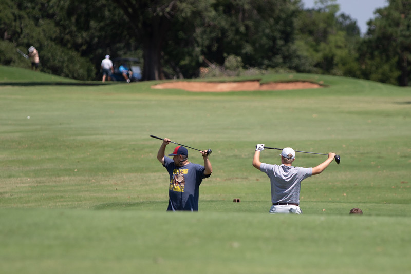 Golfers playing at Lincoln Park Golf Course in Oklahoma City.