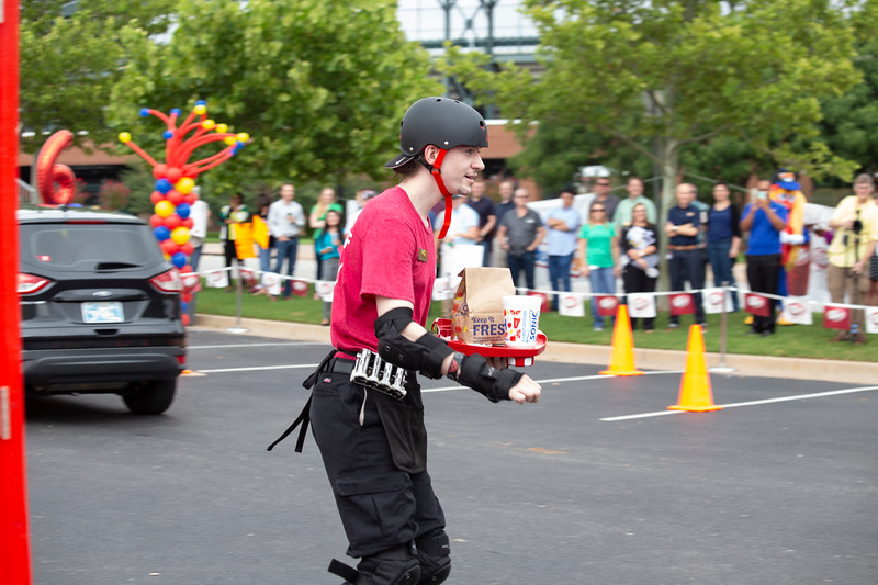 James Frame-Moffet from Knoxville, TN; competes in the 2018 SONIC Skate-Off competition at Sonic Headquarters on Tuesday, August 14 in Oklahoma City.  (Emmy Verdin/Photographer)