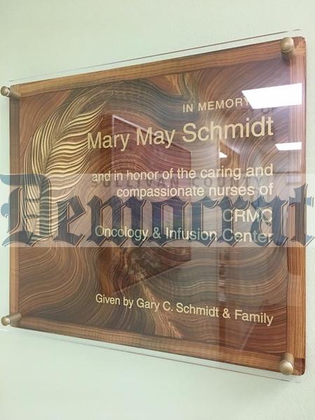 12 03 18 CRMC Mary May Schmidt plaque