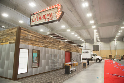 The Made in Oklahoma Coalition has setup a store front in the Bennet Event Center in preperation for the Oklahoma State Fair in Oklahoma CIty, OK.