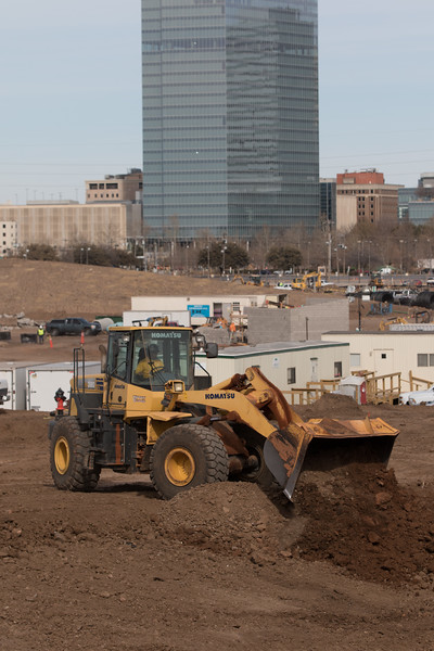 Construction of Siccortail Park just south of downtown Oklahoma City.