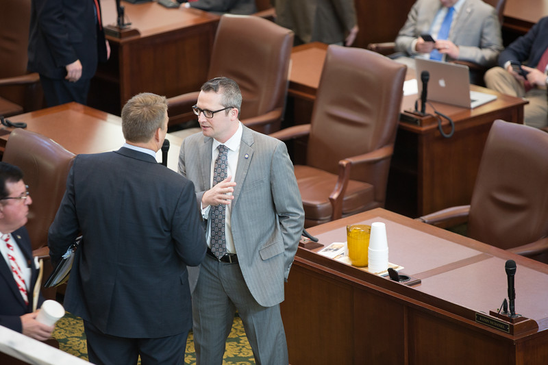 The Oklahoma House of Repersenitives met briefly before breaking into meeting and comittee.