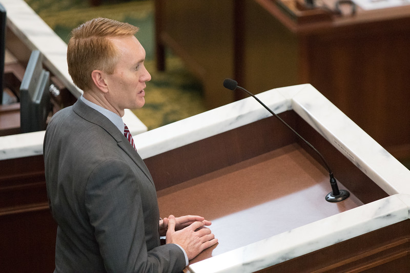 Oklahoma Senator James Lankford spoke beforethe Oklahoma House of Repersenitives on President's Day at the Oklahoma State Capitol.