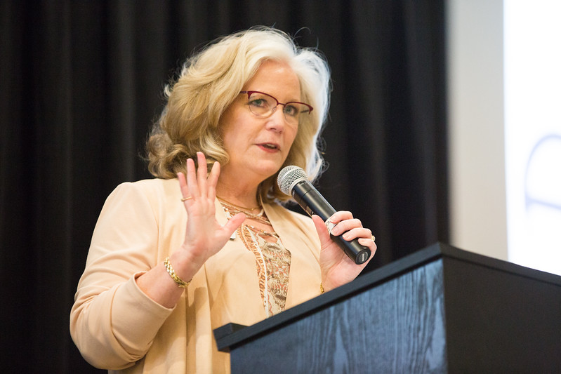 Janet Yowell, with the Edmond Economic Development Authority, speaking at this year's Edmond Economic Preview at the new Edmond Convention Center located at 2901 Conferance Dr in Edmond, OK.