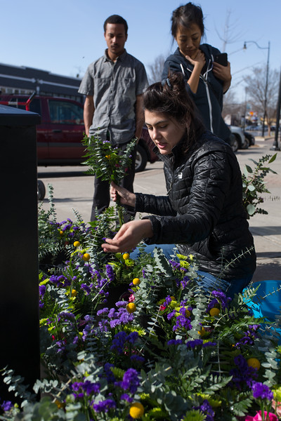The Curbside Chronical is selling flowers for Valintines day in the Plaza District and at Ledership Square in downtown Oklahoma City.