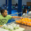 Students eating lunch at Eugene Fields Elementry in Oklahoma City.