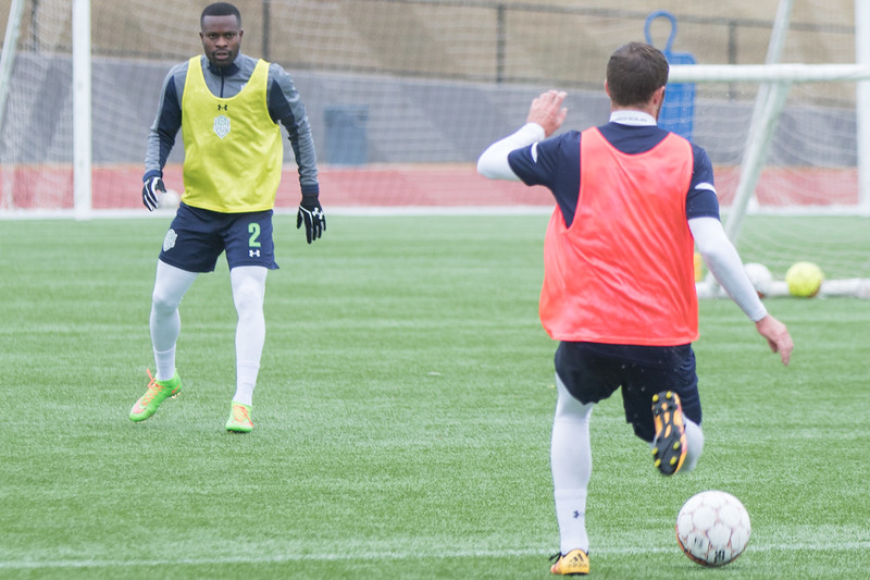 The Energy FC practicing at Taft Stadium at Taft Middle School located at 2901 NW 23rd Street in Oklahoma City.