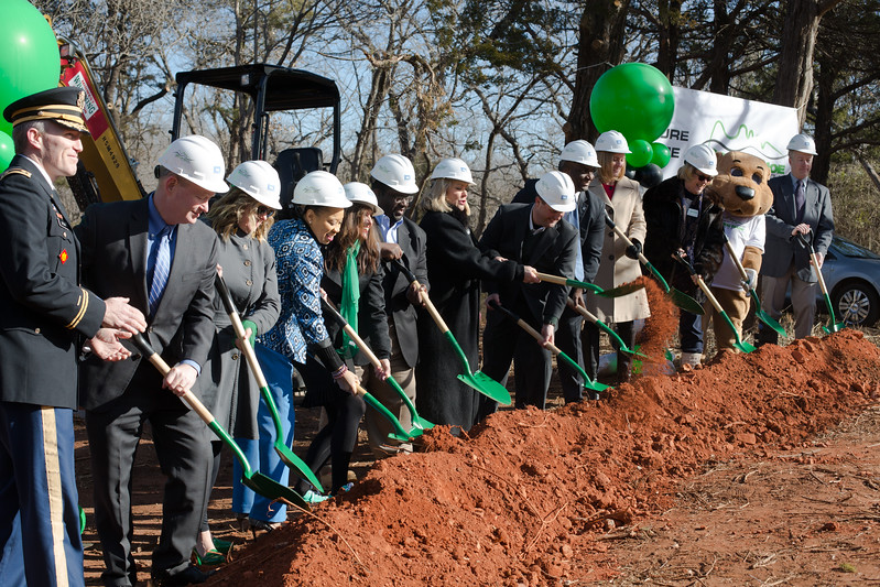 The Green Shoe Foundation of Oklahoma City held a ground breaking ceramony for their new retreat center that will be located at 645 NE 63rd St in Oklahoma City.