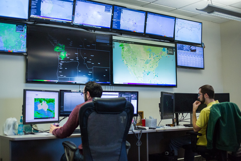 The Command Center at Weather Decisions Tech located at 201 David L Boren Blvd in Norman, OK.