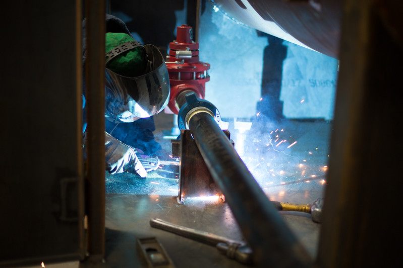 Welding at Cimmaron Energy located at 4190 S Harvey Ave in Norman, OK.