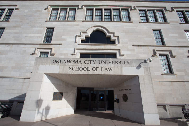 Oklahoma City University School of Law located at 800 N Harvey Ave in Oklahoma City.