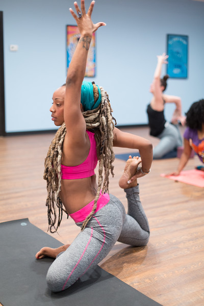 "Crystal ""Nas"" Wherry, founder of Nas' Woodstock Yoga House located at 3515 N Classen in Oklahoma City."