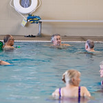 Swimming at the Senior Wellness Center located at 11501 N Rockwell Ave in Oklahoma City.