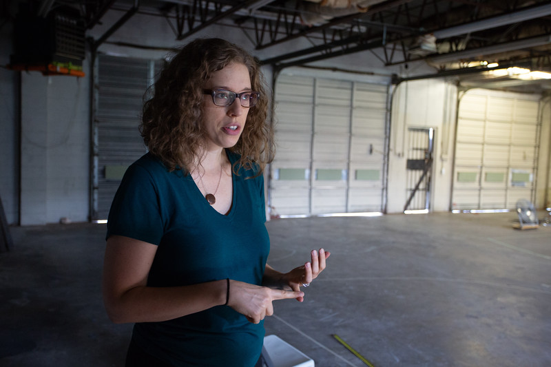 Kelsey Karper at the new location of Factory Obscura located at 1522 S Robinson Ave in Oklahoma City.