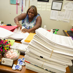 Carla Clanton with the ABLE Commision is tasked with processing and unusually high number of applications.