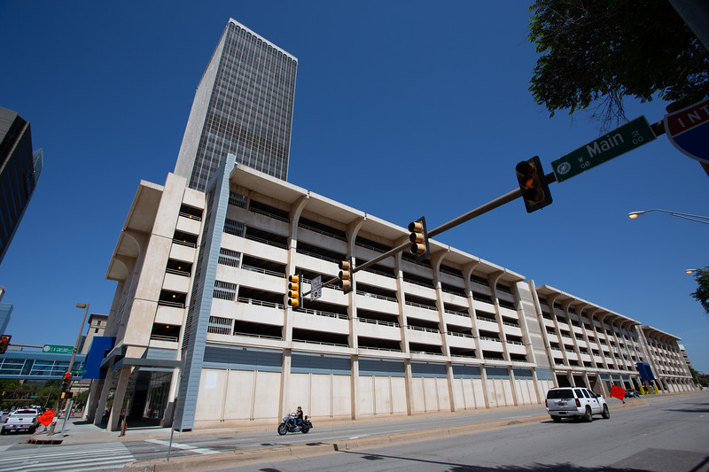 The City of Oklahoma City is looking to potentially sell the Santa Fe Parking Garage located at EK Gaylord Blvd and Main Street in downtown Oklahoma City.