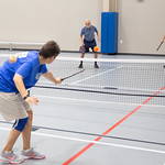 Pickle Ball being played at the Senior Wellness Center located at 11501 N Rockwell Ave in Oklahoma City.
