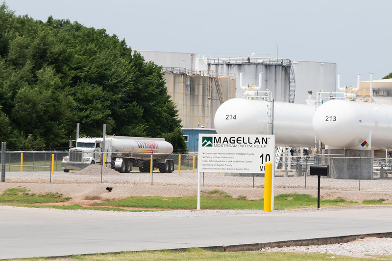 Fuel trucks reloading at the Magellan Midtream Partners  terminal located at 251 N Sunnylane Road in Oklahoma City.