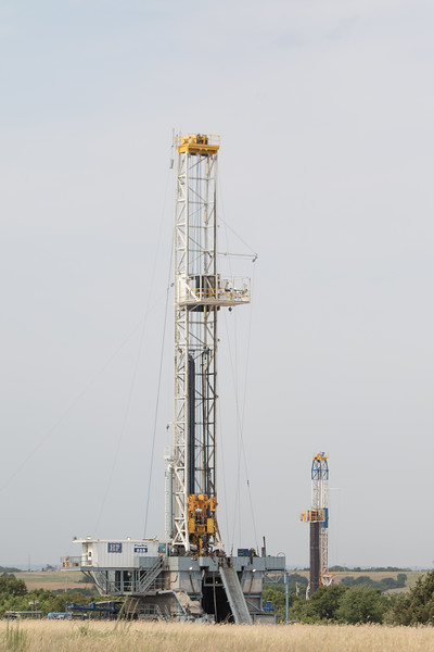 An H and P drilling rig off of Highway 9 east of Chikasha, OK.