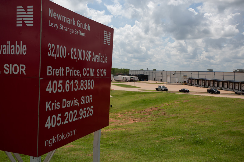Warehouse space for lease north of Hefner Road and I-35 in Oklahoma City.