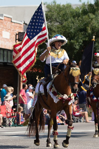 Members of the Side Saddle Sisters of Oklahoma rode in the Edmond Liberty Fest parade held on the morning of the fourth of July in Edmond, OK.