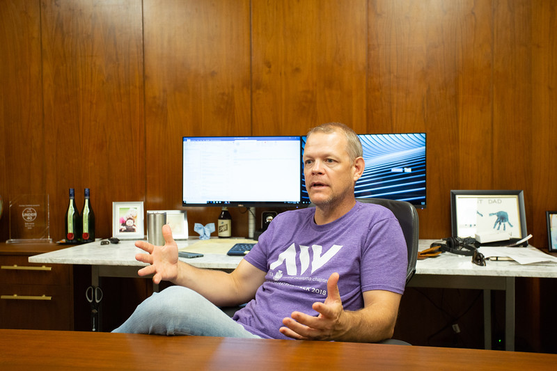 Seth Cavin, Managing Partner at Spur Design located in their new office at 312 SW 25th Street in Oklahoma City.
