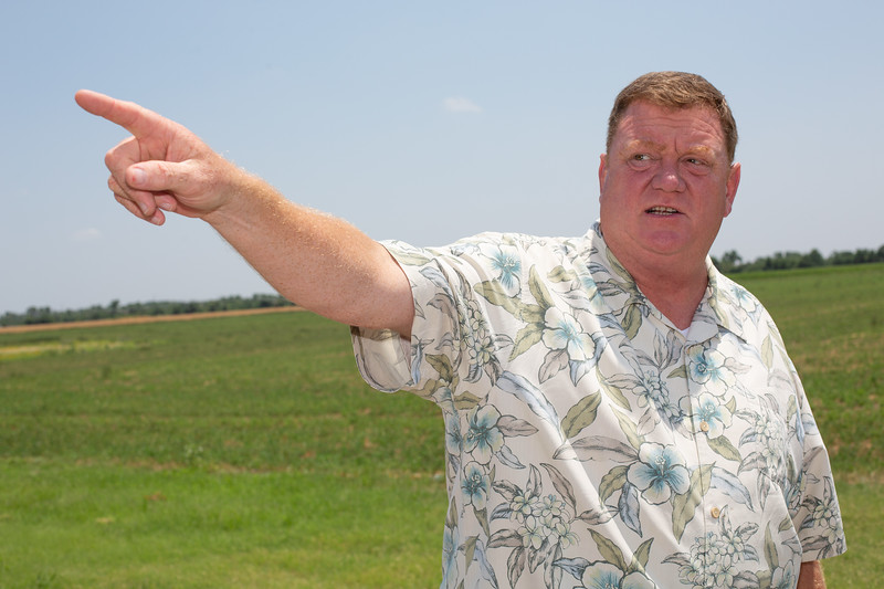 Matt White, Mayor of El Reno, OK, shows the area of a proposed waste water disposal well that was opposed by the city and the Cheyanne-Arapaho tribe.