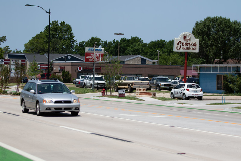 The City of Norman, OK has completed construction on Lindsey Street between I-35 and Berry Road.