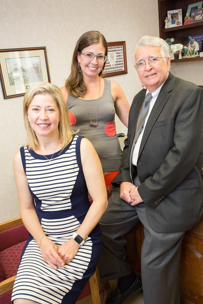 Doctors Julie Hager and Jennifer Strebel work alongside their father Dr Gary Strebel at their practice in the Phycisians Tower at Mercy Hospital located at 4200 W Memorial Rd in Oklahoma City.