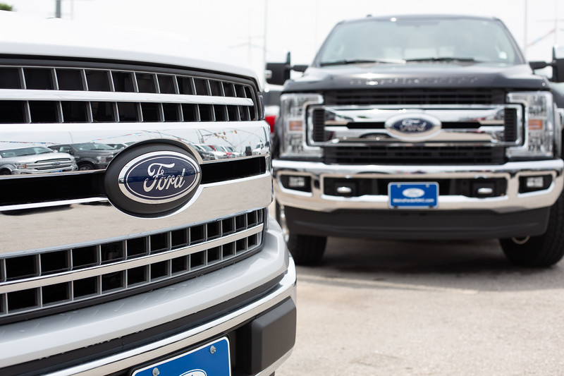 Ford trucks at Metro Ford located at 2814 NW 37th Street in Oklahoma City, OK.