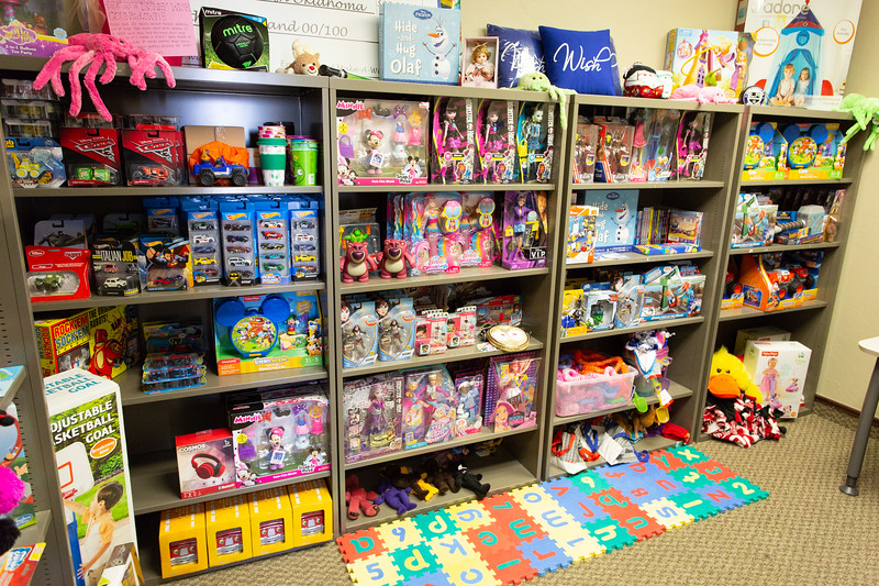 The toy closet at Make a Wish Foundation located in 50 Penn Place in Oklahoma City.
