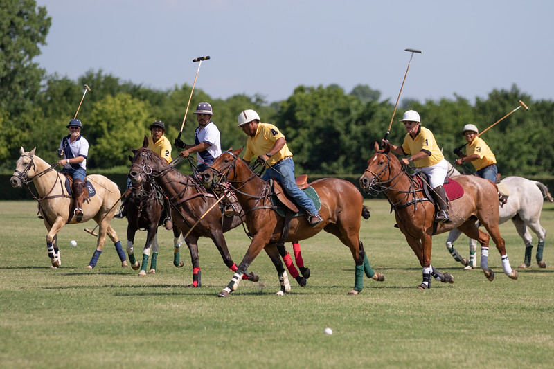 Two teams practice near Jones, OK for an upcoming polo match that will raise money for for Smart Start Oklahoma.
