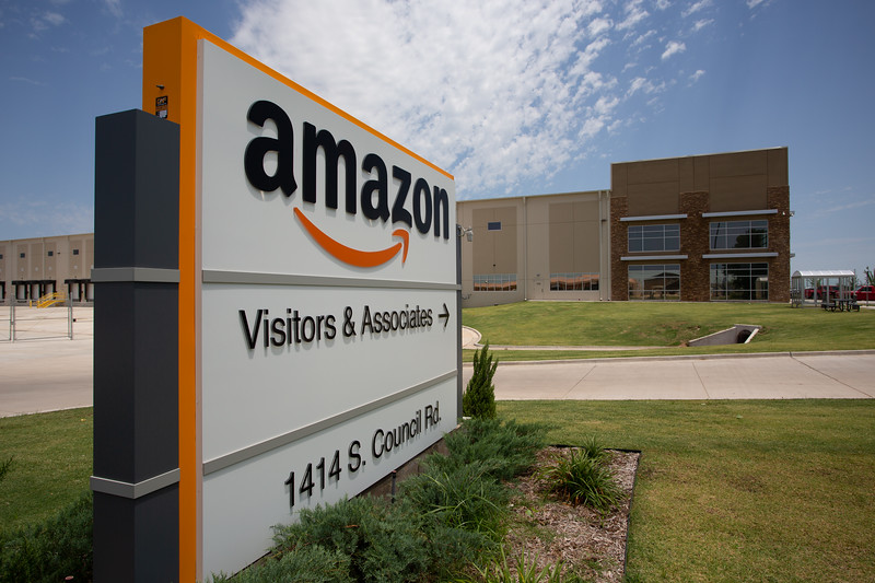 The Amazon, Inc warehouse located at 1414 S Council Rd in Oklahoma City.