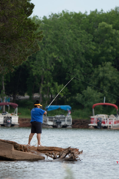 Fishing at Lake Arcadia in Edmond, OK.